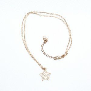 Jewelry - Gold Color Clear Crystal Star Pendant Necklace